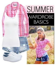 """""""Plaid Shirt Contest"""" by ablondebabe ❤ liked on Polyvore featuring H&M, Keds, Tommy Hilfiger and Wolford"""