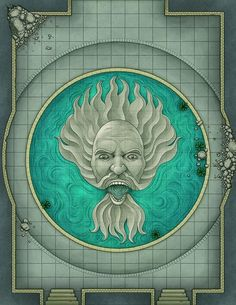 The Temple of Keranos: made for the Mythic Odysseys of Theros : battlemaps Dungeons And Dragons Homebrew, D&d Dungeons And Dragons, Fantasy Map, Medieval Fantasy, Mazes And Monsters, Dnd World Map, Goblin, Pen And Paper Games, Rpg Map
