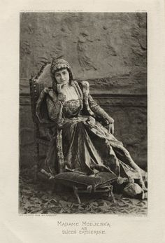 Napoleon Sarony. Madame Modjeska as Queen Catherine in Shakespeare's Henry VIII. Photograph, 1893. Folger Shakespeare Library. #Shakespeare