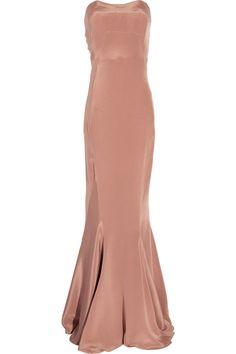 WINTER KATE  Glamour strapless silk dress