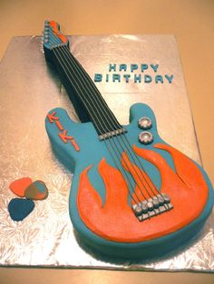 Rock n roll birthday cake Kellys Creations Cakes Pinterest