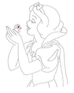 Snow White, paper embroidery