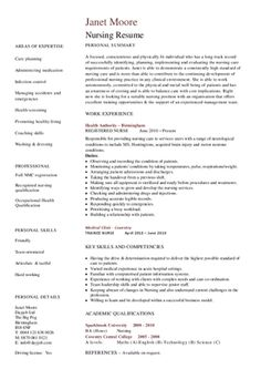 Nurse New Grad Nursing Resume Professional New Grad RN Resume