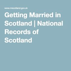 Getting Married in Scotland | National Records of Scotland