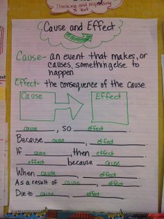 scientific cause and effect
