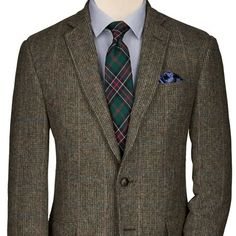 Moss multi-check Yorkshire tweed slim fit jacket | Men's sport coats & blazers from Charles Tyrwhitt | CTShirts.com