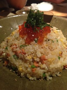 Salmon & Ikura ! parent and child fried rice@ Den Rokuen-tei