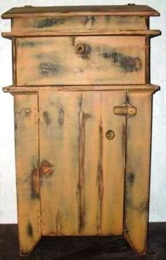 Bread Box Cupboard Country Rustic Primitive Handmade Wood Furniture Furnishing Home Decor