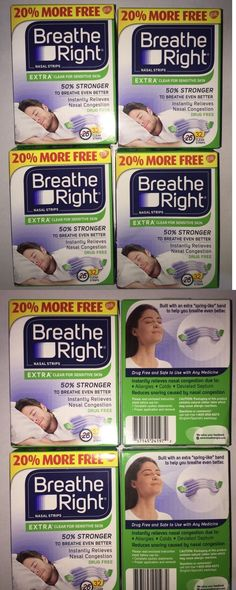 Other Sleeping Aids: 128 Breathe Right Nasal Strips Extra Clear Adult Size (Shipping Free) BUY IT NOW ONLY: $41.99