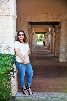 New outfit post up on the blog at www.alicemarieh.com #whitetee #denim #snakeskin #ejoylove