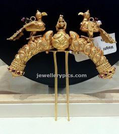 Gold hair pin juda ambada design - Latest Jewellery Designs