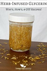 Come learn the why's, how's, and grab our favorite recipes to incorporate herb-infused glycerin (herbal glycerites) into your next DIY projects!- Scratch Mommy