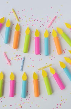DIY birthday candle garland | alice & lois