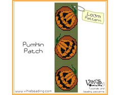 Loom+Bracelets+Free+Patterns+Native | Bead Loom Bracelet Pattern - Pumkin Patch - INSTANT DOWNLOAD pdf - Buy ...