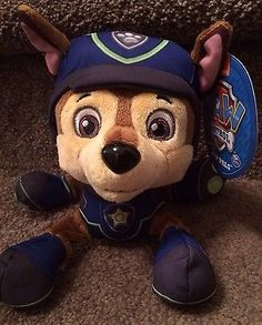 """Nickelodeon Paw Patrol SPY Chase 8"""" Plush Pup Pals NEW Spin Master Toys"""