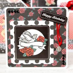 Make cards like this with the Lelli-Bots Red Hot Rocabilly Collection! Shop now: http://www.createandcraft.tv/pp/lelli-bot-crafts-8x8-fullworks-kit-352225?utm_medium=social&utm_source=pinterest&utm_campaign=product&utm_content=lellibot&mobilebypass=1