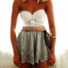 Eyelet Skirt and Lace Bodice