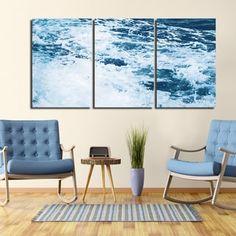 Ready2HangArt Indoor/Outdoor 3 Piece Wall Art Set (24 x 48) 'Tumultuous Waters II' in ArtPlexi by NXN Designs