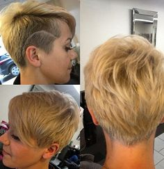 Beautiful Side Shaved Short Haircuts for Women
