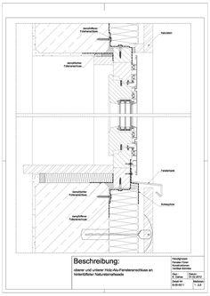 B-05-0011 oberer und unterer Holz-Alu-Fensteranschluss an hinterlüfteter Natusteinfassade