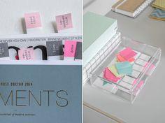 Super leuk zijn deze sticky bookmarks waarmee je je favoriete pagina's in een tijdschrift of book kan markeren.