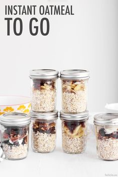 Back to School Breakfast - The Chic Site- Homemade instant oatmeal. DIY to-go-oatmeal.