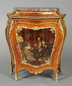 French Antique Commode Hand Painted