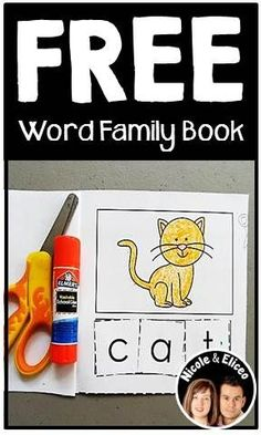 FREE word family mini book! Students will have fun cutting and pasting letters to build the words in each word family!