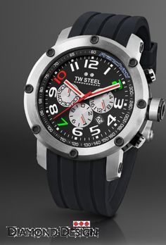 Dario Franchitti Edition: 45 mm steel case - precision chrono movement - mineral crystal with a sapphire layer - silicon strap - 10 ATM water resistant