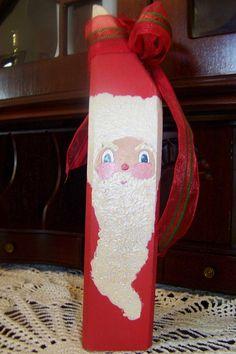 Handmade Wooden Santa Prim Christmas Decor by arborfieldmanor, $10.00