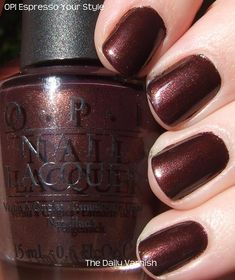 OPI Espresso Your Style ...love, love, love the dark brown for fall & winter. wish i was better at painting my nails!