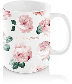 Watercolor Pink Peonies, Pink And White Roses And Greenery Coffee Mug by Dazzettemarie - 11 oz Gadgets, Rose Family, Unique Coffee Mugs, Pink Peonies, Shabby Chic Decor, Tea Mugs, White Roses, Diy Fashion, Creative Design