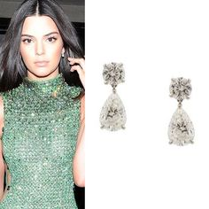 Kendall Jenner at the 2015 Met Gala wearing a custom made Calvin Klein high necked light green gown I love the way it fitted her! She went for the soft nude makeup that's perfect for her and an equally simple but jaw-dropping @chopard diamond drop earrings from the High Jewelry Collection. #purplebyanki #diamonds #luxury #loveit #jewelry #jewelrygram #jewelrydesigner #love #jewelrydesign #finejewelry #luxurylifestyle #instagood #follow #instadaily #lovely #me #beautiful #loveofmylife #dubai…