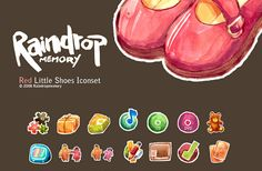 Red Little Shoes Icon set