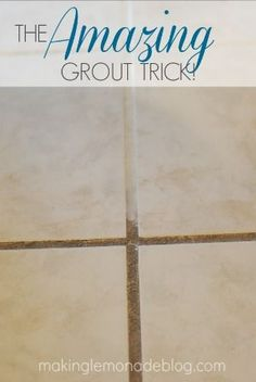 3 (Top Secret) Tricks for Cleaning with Vinegar--The Amazing Grout trick