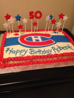 Montreal Canans 50th Birthday Cake I Made