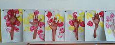 Fa kéznyomattal,alma almanyomattal Painting, Art, Painting Art, Paintings, Kunst, Paint, Draw, Art Education, Artworks