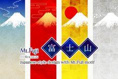 「粋」「雅」「絢爛」「侘び・寂び」をテーマにデザインした富士山です。↑クリックでダウンロードページへ Japanese Style, Fuji, Cards, Fashion Design, Japan Style, Japanese Taste, Japan Fashion, Maps, Playing Cards