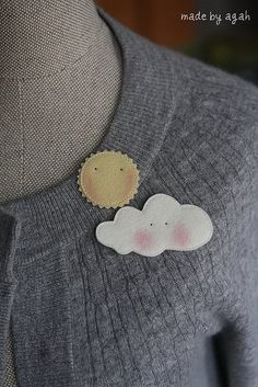 The Sun & A Cloud Brooch