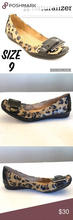 """Naturalized C5 Comfort Valya Animal Print Flats 9 Size 9. 3/4"""" heel. Excellent Condition. Naturalizer Shoes Flats & Loafers"""