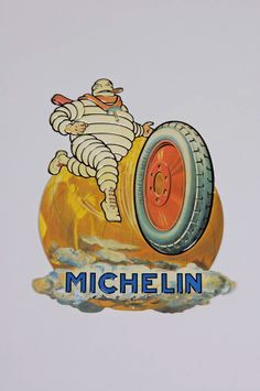 Planet MICHELIN Man Vintage Advertisements, Vintage Ads, Vintage Signs, Michelin Man, Michelin Tires, Old Pub, Old Logo, Car Posters, Retro Cars