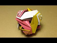 Modular Origami / KNITTED BALL / Instructions / Tutorial - YouTube