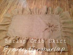NEW Burlap Crib skirt by everythingburlap on Etsy