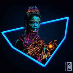 NEON MARVELS Artwork #SHURI