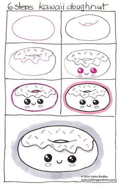 Comment dessiner : Donut kawaii