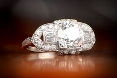 The Preston Ring, Circa 1920 from Estate Dimaond Jewelry.
