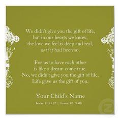 - Adoption Poem print