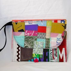 Recycled iPad case  upcycled material iPad case  by JustPlainJane, $25.00
