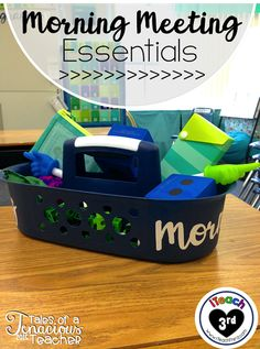 iTeach Third: My Morning Meeting Toolbox