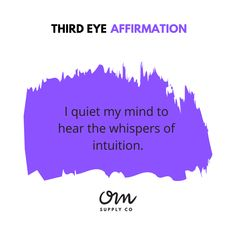 Chakra Meditation, Chakra Healing, Guided Meditation, Third Eye Quotes, Maturity Quotes, Meditation Supplies, 3rd Eye Chakra, Chakra Affirmations, Feelings And Emotions